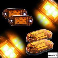 2 x 24V Feux De Gabarit 4 LED Orange Pour Camion Remorque Caravane Chassis