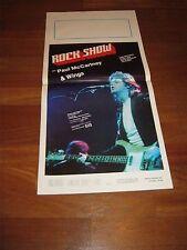 LOCANDINA,Paul McCartney Wings 1976,Rock show (1980),MUSICALE,BEATLES