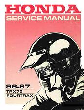 New Honda TRX70 TRX 70 1986-1987 FourTrax Repair Service Manual. FREE SHIPPING