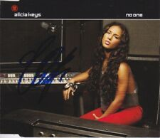Alicia Keys signed No One cd single