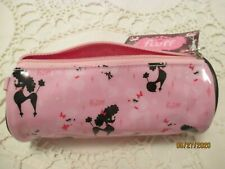 Pink Vinyl COSMETIC BAG/PURSE by FLUFF, Los Angeles w/POODLES-NEW w/TAG!