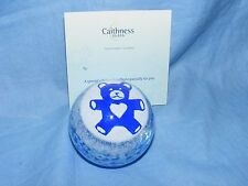 Caithness Glass Paperweight New Baby Boy Bear Gift Christening Present  U10044