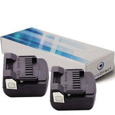 Lot de 2 batteries type BSL-1440 pour Hitachi 3000mAh 14.4V - Société Française-