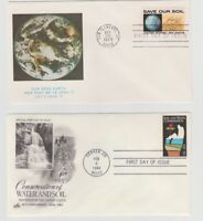 US First Day Cover 2 Soil and Water Conservation 1970 & 1984 Philatelist Stamps