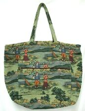 Holdings Fine Accessories Tapestry Golf Theme Large Tote Bag Weekender