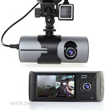 Dual Lens LCD Screen HD 1080P Vehicle DVR Camera Recorder Tachograph GPS Logger