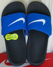 6586c8e16399e Nike Kawa Adjust Big Kids 819344-401 Racer Blue Black Logo Sandals Youth  Size 5
