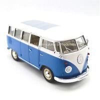 VW T1 COMBI BUS VOLKSWAGEN BLEU 1962 1/24 WELLY  JA16DC