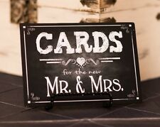 Cards Wedding Sign for the new Mr. & Mrs. 5x7 - Rustic Chalkboard Collection