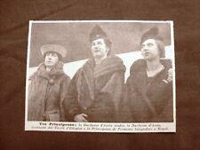 Napoli nel 1938 Elena d'Orléans, Anna d'Orléans e Maria José del Belgio