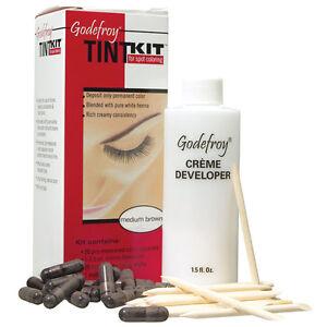 Godefroy Eyebrow Tint Kit Medium Brown 20 Applications