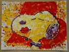 """Tom Everhart """"A KISS IS JUST A KISS""""  """"SNOOPY"""" """"PEANUTS"""" Lithograph S/N+ COA!"""