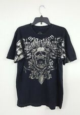 Affliction Signature Series Fedor Emelianenko Skull Dragon Stretch T-shirt Sz L