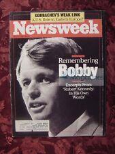 NEWSWEEK May 9 1988 5/9/88 ROBERT F. KENNEDY New York City Ballet Foster Parents