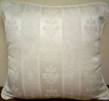 30 x 30 Inch Square Ivory Cream Jacquard Extra Large Cushion Cover Zip Closure