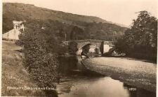 Froggatt Edge Bridge real photographic unused old postcard by Sneath 2830