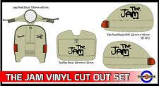 The Jam Sticker Set Fits Vespa PX T5 LML Mod Black Vinyl Decals SK3