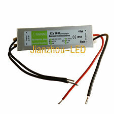 12V 10W Waterproof Power Supply AC to DC Switch for 3528 5050 LED Strip lights