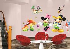 Disney Mickey Minnie Mouse Wall Sticker Removable Kids Nursery Room Decal
