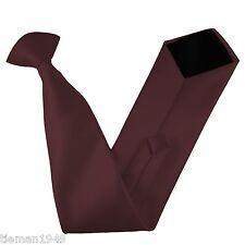Italian Satin Clip On Tie All Colors
