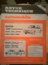 MAZDA 323 CITROËN Visa Super GT Chrono HORIZON - Revue Technique Automobile
