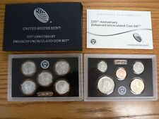 SOLD OUT-2017 S 225TH ANNIV ENHANCED U/C COIN SET UNSEARCHED, ORIG/PKG FREE SHPI