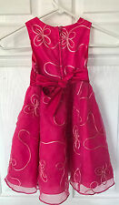 Girls Rare Too Rosette Holiday Special Occassion Dress Pink Size 4T