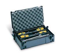 TANOS MINI Systainer Classic Gr. 1 anthrazit + Einlage 3- fach & Deckel polster