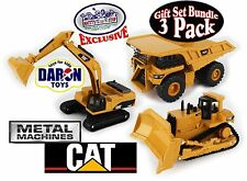 CAT (Caterpillar) Large Metal Machines Dump Truck, Bulldozer & Excavator 3 Pack
