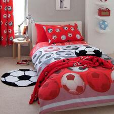 Set di lenzuola e copripiumini per bambini, tema calcio