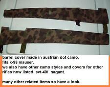 K-98 mauser/ Barrel cover / austrian dot camouflage / reenactment/ german sniper