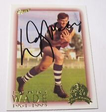 Geelong - Doug Wade signed AFL Hall of Fame Card + Photo proof / COA