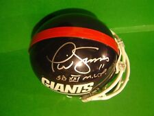 NEW YORK GIANTS PHIL SIMMS AUTOGRAPHED NFL Football MINI-HELMET