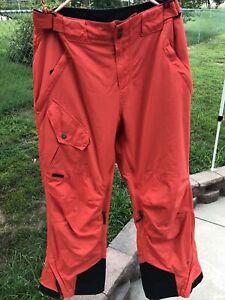 Obermeyer Ski Snowboard Snowmobile Pants Men's Large Orange