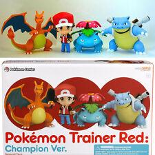"Pokemon Go Trainer Red Champion Ver Nendoroid Satoshi 4"" Action Figure Toy Gift"