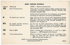 American Radio Relay League - ARRL Ending Signals for Radio Amateurs