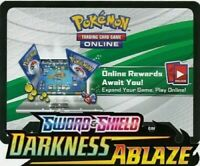 6x Darkness Ablaze Unused Pokemon Online Booster Codes In Hand Emailed - FAST!