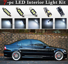 7-pc White Canbus LED Interior Light Bulbs Package Kit Fit BMW E46 Sedan Wagon