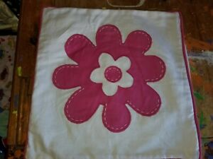 "Pottery Barn Teen ""Pink Flower"" 16"" Pillow Cover"