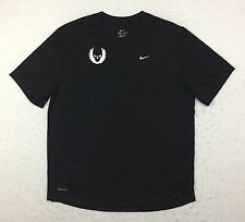 Nike Dri-Fit Oregon Project Black Challenger Running Tee T Shirt Men's Large L