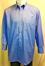 TOMMY HILFIGER LONG SLEEVED  DRESS SHIRT BLUE 16 1/2 / 32-33/ LG