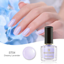 BORN PRETTY Purple Nail Polish Pink Translucent Jelly Nail Art Manicure 8 Colors