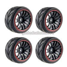 Fit HSP HPI 9068-608 RC Racing Räder Reifen aus Gummi 1/10 Auto+REIFEN-SET 4tlg