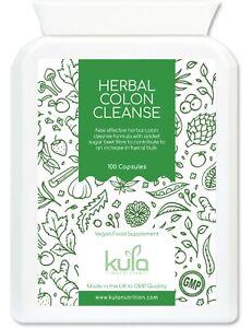 Colon Cleanse Herbal Detox + Aloe Vera - Constipation Relief 100 Vegan Capsules