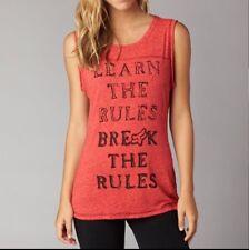 Fox Racing Women's Break Rules Tank In Wild Cherry Size XL