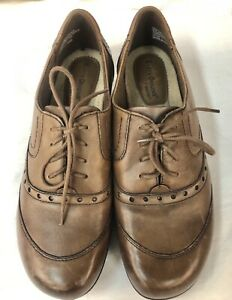 Earth Origins Parkland Wom. 8 Lace Up Oxford Brown Soft Comfort Shoes Brogues