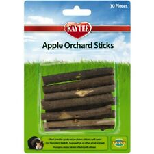 Kaytee Apple Orchard Sticks 10 count | Natural Applewood Chews for Small Animals