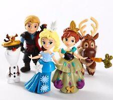 Frozen Olaf Elsa Anna Kristoff Sven Toys Figure Figurine Set Cake Topper x 5pcs