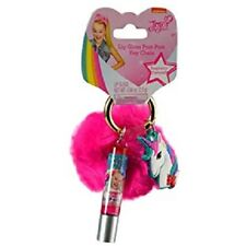 JOJO Siwa Lip Gloss Pom Pom Key Chain Perfect for Gifts New with Tags - Pink