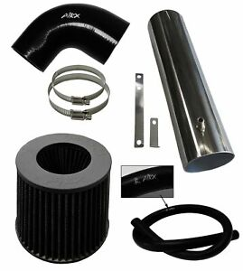 BLACK AirX Racing long Air Intake Kit For 1997-2004 Jeep Cherokee Grand 4.0L I6